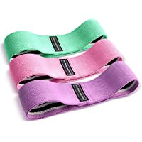 Resistance Exercise Bands Workout Hip Fabric Exercise Bands 3 pack Sets-Booty Bands Fitness Loop Circle for Abs, Squats, Legs, Butt -Heavy Strength Fitness Bands for Pilates, Gym, Physical, Yoga