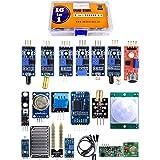 Quad Store 16in1 Sensor Modules Kit compatible with Arduino Uno R3, Mega 2560, Nano, Raspberry Pi with box