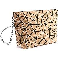 Tikea Geometrische Shopper - Leuchtende Handtasche Holographische Einkaufstasche Kunstleder Umhängetasche…