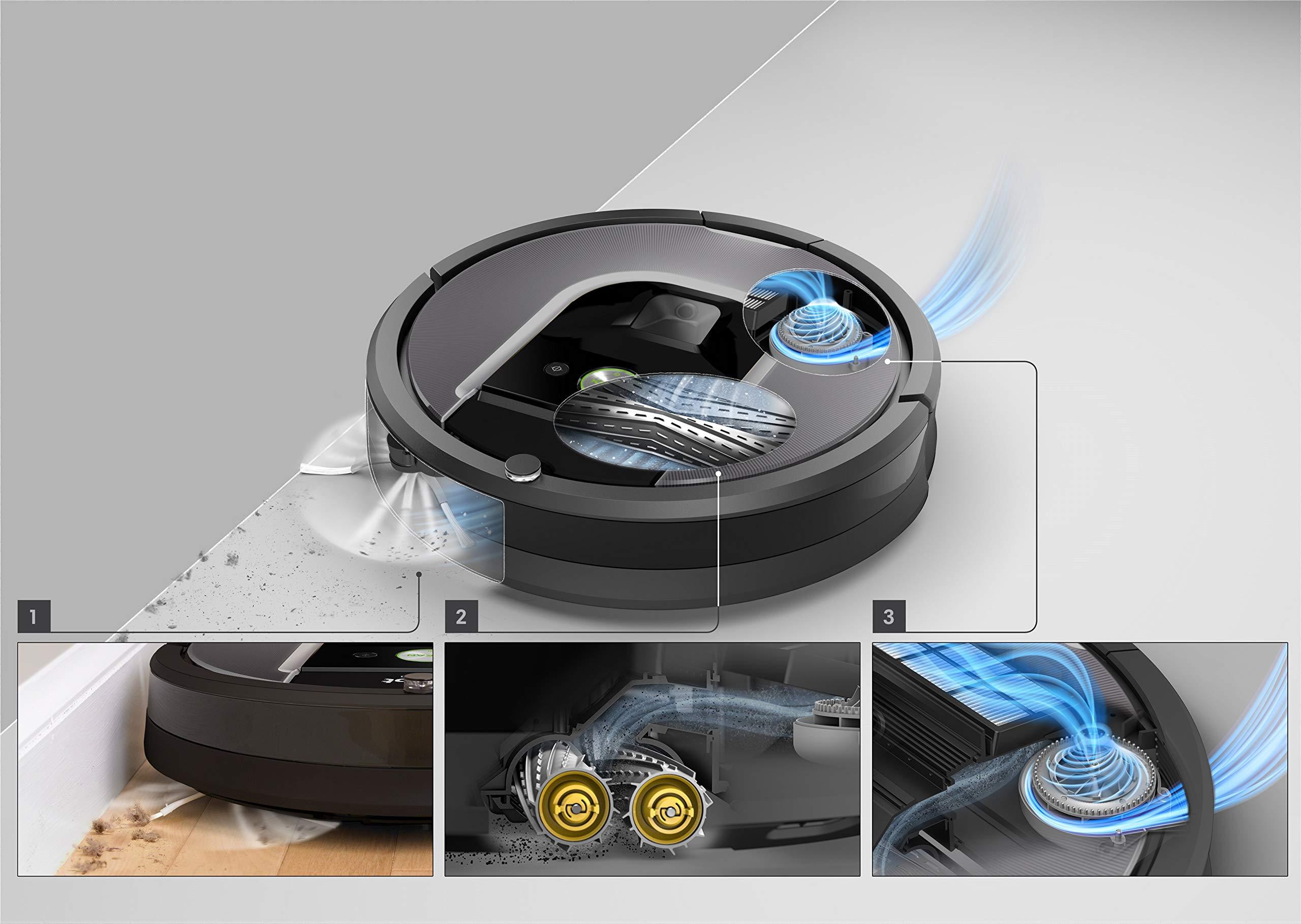 iRobot Roomba 960 Robot Aspirapolvere, Sistema di Pulizia Dirt Detect, Spazzole Tangle-Free, per Pavimenti e Tappeti… 4 spesavip