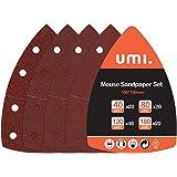 Amazon Brand - Umi Schuurvellen Schuurpapier 100-delig, Muisschuurpapier voor multi-schuurmachines, 40-80-120-180 Grits