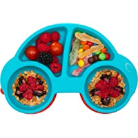 Qshare - Piastre per neonati in silicone, piastre per bambini portatili per bambini, aspirazione potente su tavola…