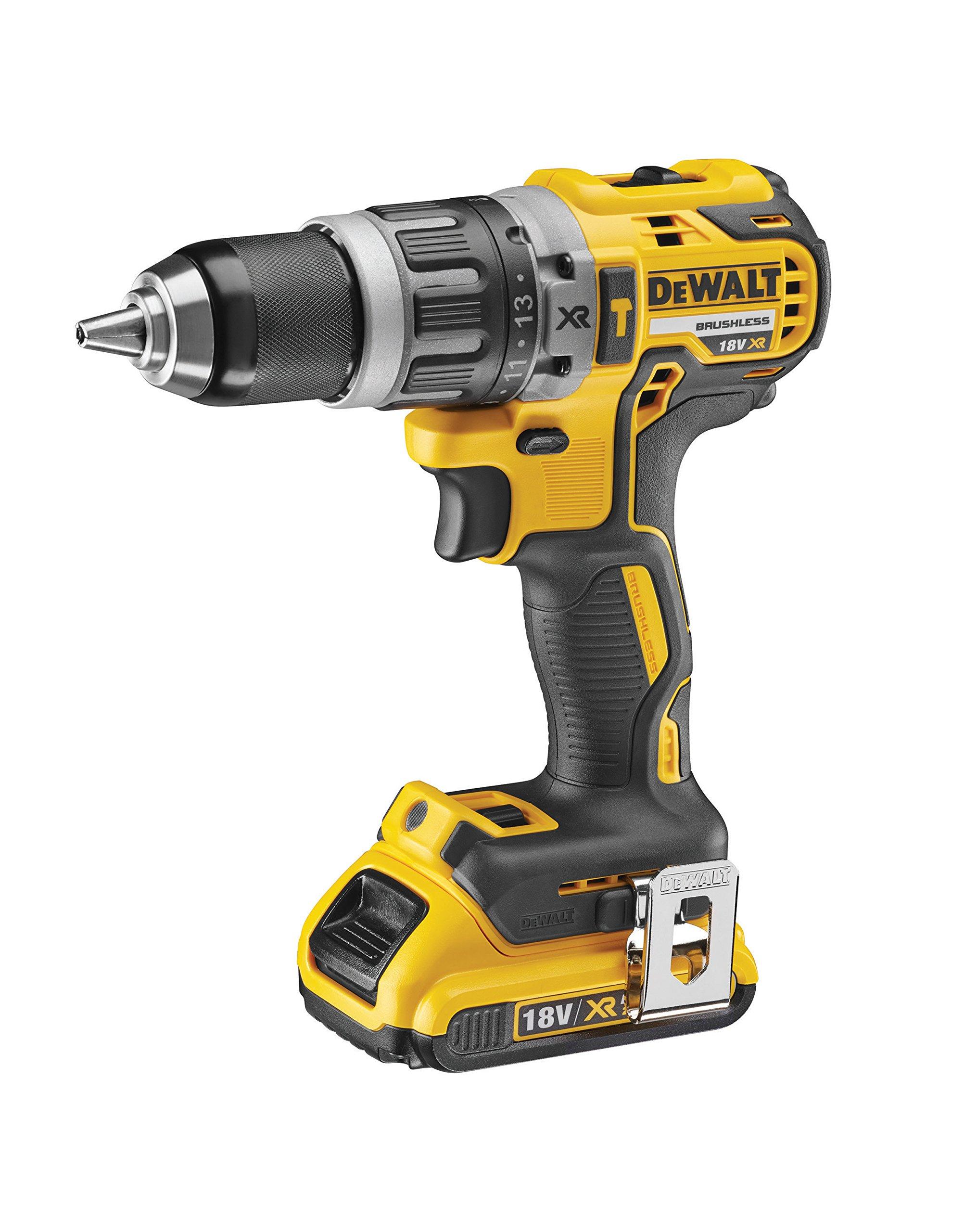 Dewalt DCD796D2-QW Taladro percutor, 1800 W, 18 V, Negro y amarillo