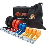 LODD – 10 bagageriemen, verschillende klauwen van 1 m tot 6 m, weerstanden 250 kg, transport en sjorren van bagage, fiets, ve
