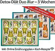 Cleansing Diät Duo 3 Wochen Kur | Effektiv Cleansing & Abnehmen | 100% Vegan | 84 gesunde Produkte | 4 Produkte/Tag | inkl. b