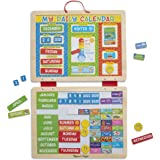 Melissa & Doug My First Daily Magnetic Calendar Developmental Toy Magnetic Activities 3+ Gift for Boy or Girl