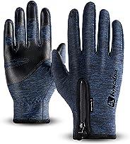 Fenvella Guanti Touchscreen Invernali per Uomo e Donna,Guanti da Antivento Impermeabili Caldi Sportivi per Ciclismo Alpinismo Escursionismo Outdoor Adatto per Smartphone,Tablet