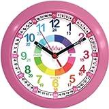 KIDDUS Orologio da Parete Didattico per Bambini, Ragazzi. Analogico. Con Esercizi per Imparare a Leggere l'Ora. Facilità…