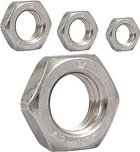 Sechskantmuttern M14 niedrige Form DIN 439 Edelstahl A2 20 St/ück Muttern Flachmuttern
