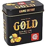 Game Factory 646252 Guld, minikortspel i praktisk metalllåda, perfekt som ett resespel eller gåva, för 2 till 5 spelare