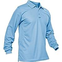 KEFITEVD, maglietta da uomo a maniche lunghe, a maniche lunghe, da golf, da lavoro, per attività all'aperto, pesca…