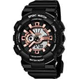 CAVIOT Analogue - Digital Women's Watch (Multicolored Dial Black Colored Strap)