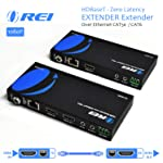 Orei OREI HDMI Extender Over Ethernet CAT5e/CAT6 Power Over Cable - HDBaseT - Zero Latency - 1080P Upto 500 Feet -IR Signal