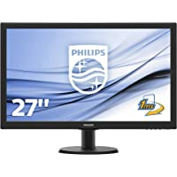 Philips 273V5LHSB/00 Monitor LCD con SmartContro Lite, 27 pollici, Display 16:9 Full HD, HDMI, VGA, Attacco VESA, Nero