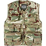 Kids Army Latest Multi Terrain Camouflage Multi Pocket Vest Ages 3-13 Years (Age 5-6)