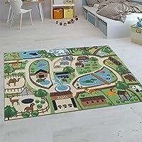 Paco Home Tapis Enfant, Tapis Poils Ras Chambre Enfant Différents Designs Tapis Jeu Coloré, Dimension:80x150 cm, Couleur…
