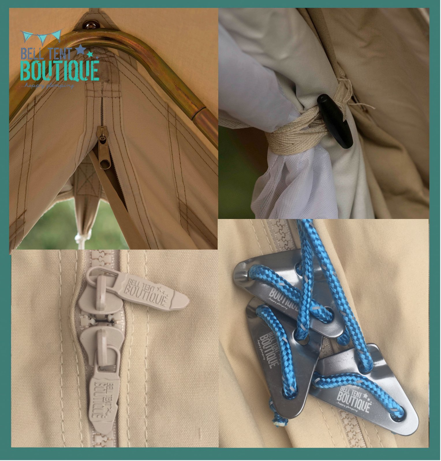 Bell Tent 3 metre with zipped in groundsheet by Bell Tent Boutique 3