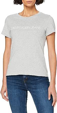 Calvin Klein Core Institutional Logo Slim Fit Tee Maglietta Donna