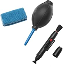 Sonia 3 in 1 Cleaning Kit for Cameras Lenses, Binocluars, LCD, Laptops etc. Inludes: Lens Pen, Air Blower, Cleaning Cloth