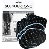 Slendertone - Paquete triple de almohadillas de repuesto, unisex, ABS, negro