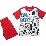 Disney Pigiama Corto Bambino Estivo Mickey Mouse in Cotone, con Stampa Frontale - Art. 46294