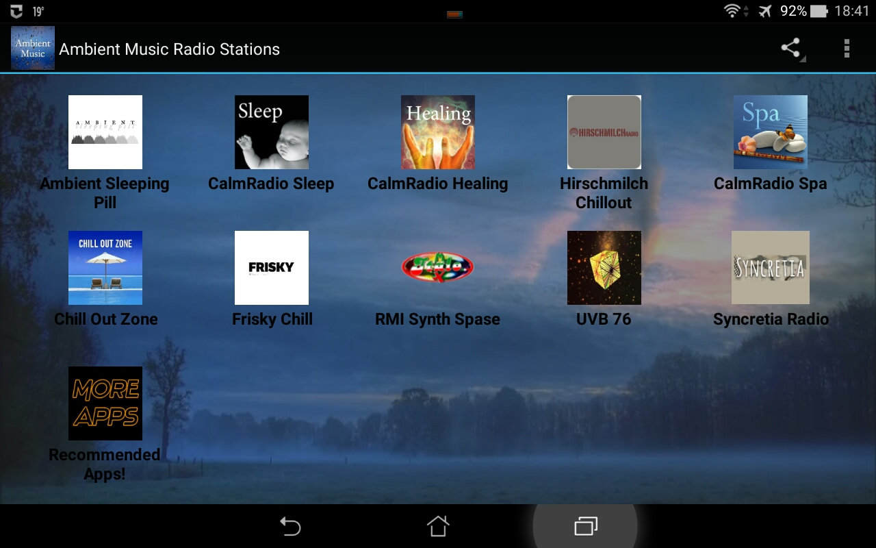 Ambient Music Radio Stations: Amazon co uk: Appstore for Android