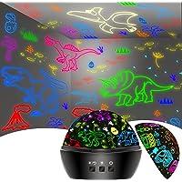Dinosaure Jouet Enfant 2-7 Ans, Jouet Garcon 3-8 Ans, Veilleuse Dinosaure Voiture Projection Lampe Projecteur Enfant 16…