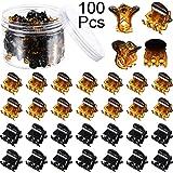 100 Pezzi Mini Capelli Artiglio Pinze di Plastica Capelli Artiglio Spilla con Una Scatola Piccolo Capelli Artiglio Fermagli p