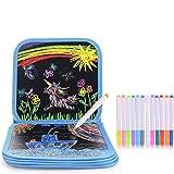 HellDoler Barn målarbok, ritbräda för barn målning och teckning när du reser eller hemma med 14 sidor för att skriva och rita