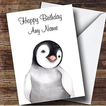 Penguin Birthday Card Amazon Kitchen Home