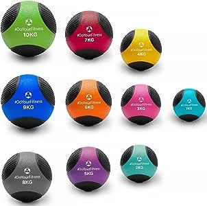 Medizinball »Medicus« / 1kg 2kg 3kg 4kg 5kg 6kg 7kg 8kg 9kg 10kg / Fitnessball/Gewichtsball/leichte bis sehr schwere Gymnastikbälle in Studio-Qualität