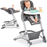 Hauck Baby-Hochstuhl Grow Up mit Liegefunktion ab Geburt - mit Tisch, Rollen, klappbar, mitwachsend und höhenverstellbar…