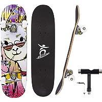Colmanda Skateboard 79x20cm 31 pollici, Completo Skateboard per Principianti, Skateboard 7 Strati di Acero Canadese…