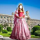 Mujer medieval vestido de Montaje