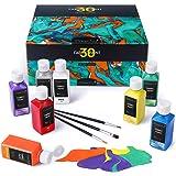 Magicfly Soft Pintura para Tela Textil Ropa Permanente Juego de 30 Colores 60 ML, Lavable & No se Necesita Calefacción, para