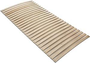 Lattenrollrost in Top-Qualit/ät zum g/ünstigen Preis Mit 12 Befestigungspunkten Naturamio Premium-Rollrost Hochwertiger Rolllattenrost aus 24 massiven Birkenholz-Federleisten 90x200cm
