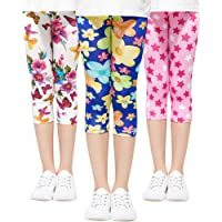Adorel Leggings Stretch 3//4 Pantaloni Capri Bambina 3 Pack