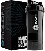 Boldfit Gym Spider Shaker Bottle 500ml with Extra Compartment, 100% Leakproof Guarantee, Ideal for Protein, Preworkout and B