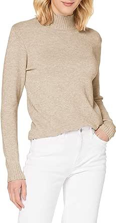 Vila NOS Viril Turtleneck L/S Knit Top-Noos Maglione Donna