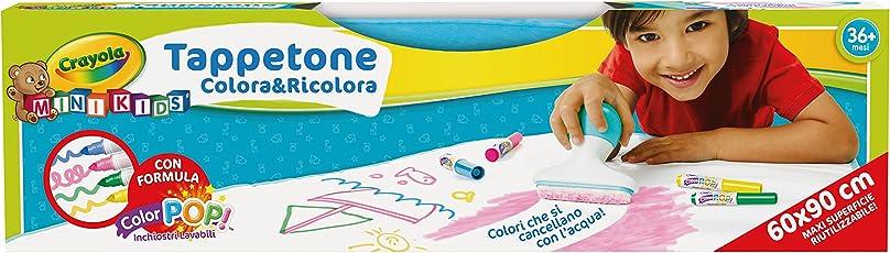 Crayola Mini Kids Tappetone Colora&Ricolora, Maxi Superficie Riutilizzabile per Disegnare e Colorare, Età 36 Mesi, Gioco e Regalo, 04-0034