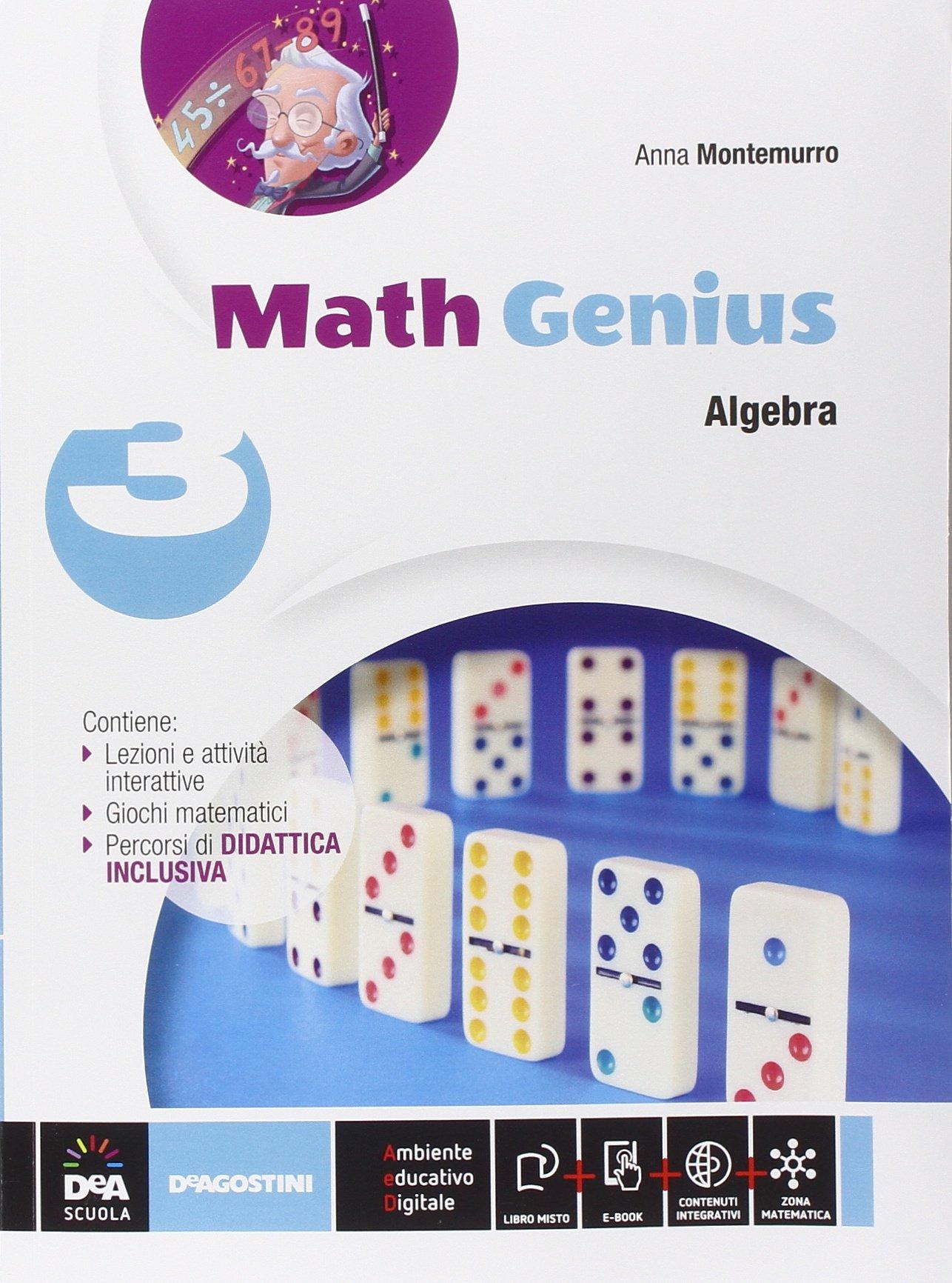 Math genius. Aritmetica-Geometria-Palestra delle competenze. Per la Scuola media. Con e-book. Con es