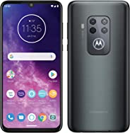 Motorola One Zoom with Alexa Hands-free Dual SIM Smartphone (6.4 Inch FHD+ Display, Quad Camera System, 128 GB/4 GB, Android