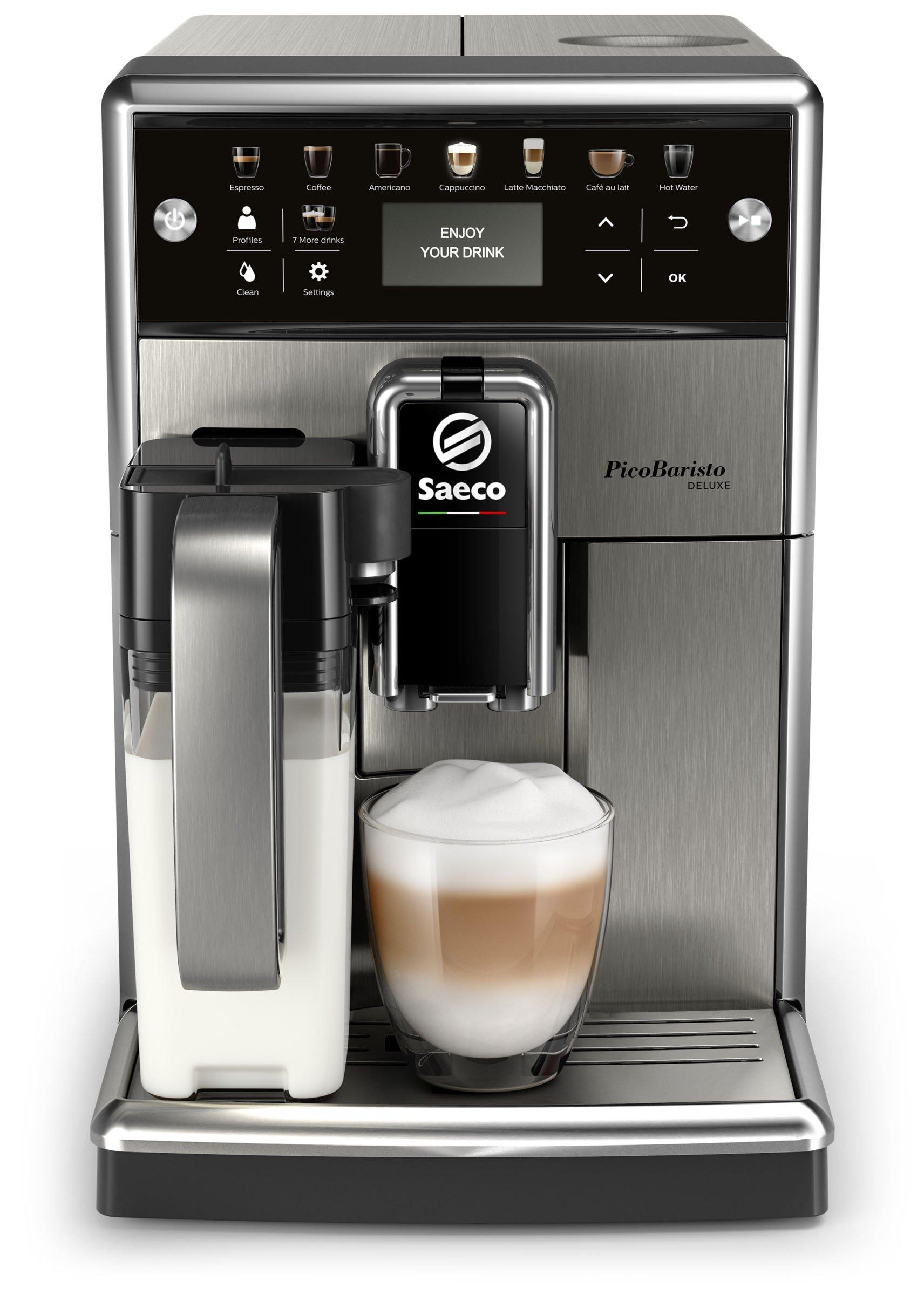 Saeco SM5573/10 PicoBaristo Deluxe Kaffeevollautomat (LED Display, integriertes Milchsystem) edelstahl