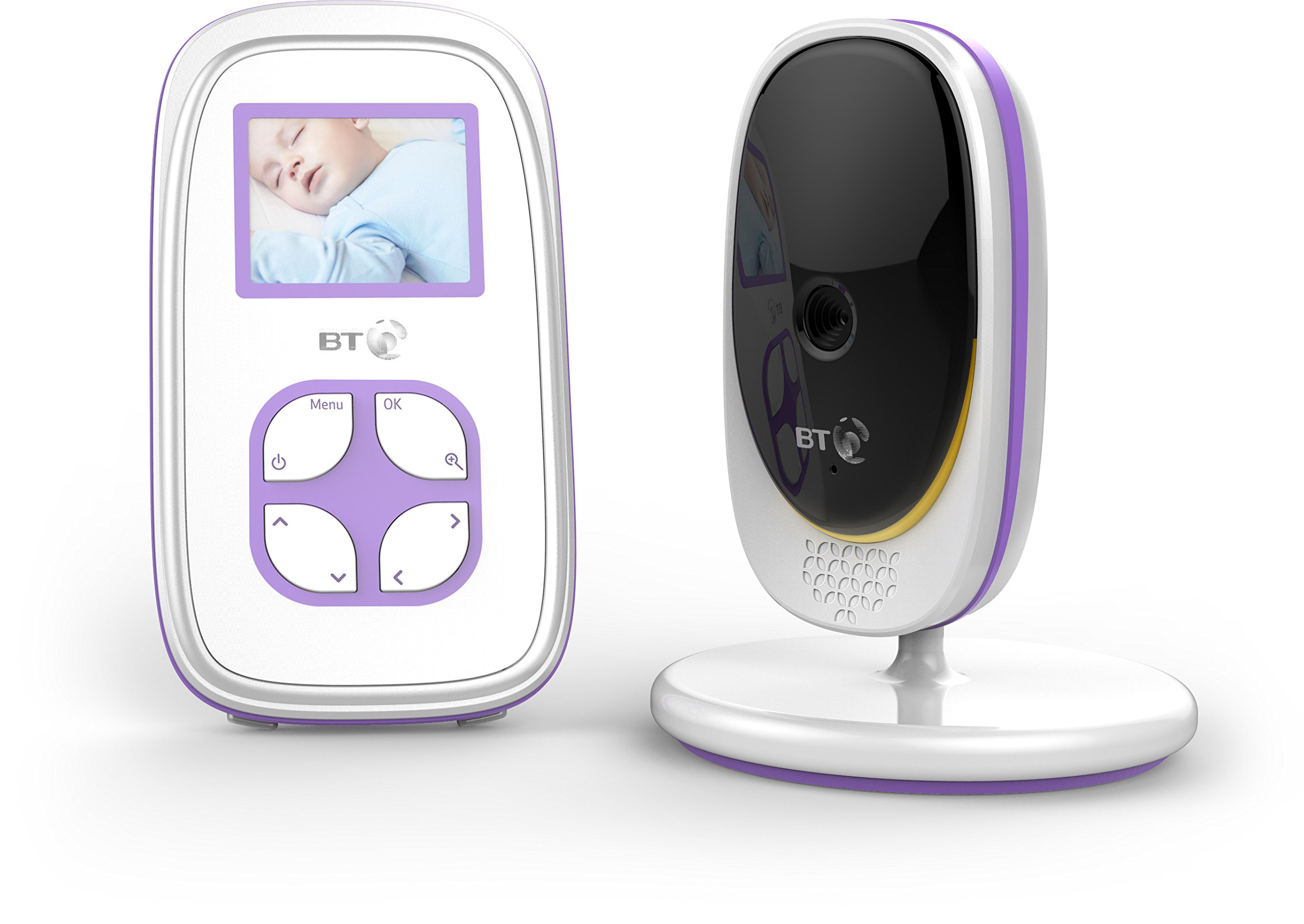 BT Video Baby Monitor 2000 BT 2 inch screen with night vision Manual (non-remote) pan/tilt mechanism Portable parent unit so you can move freely around your home 1