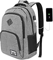 YAMTION Laptop Rucksack Business Rucksack für 15.6 Zoll Laptop Schulrucksack mit USB Ladeanschluss für Arbeit Wandern...