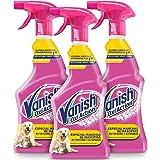 Vanish Oxi Action - Quitamanchas especial manchas de Mascota en alfombras y tapicerías, spray, sin lejía - Pack de 3 x 750 ml