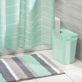 Amagical 4 Piece Bath Set Shower Curtain And 3 Mats
