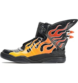 free shipping c1d92 58c9f adidas Originals Jeremy Scott Black Wings Shark Flame Shoes B26270