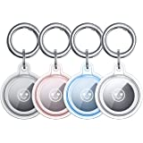 Benazcap 4 Pack Clear Case voor AirTags Key Finder (Locator Tracker), Mini AirTags Tracker Cover Skin en Hard AirTag Keyring,