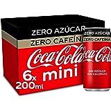Coca-Cola Zero Azucar Zero cafeïne - Cola verfrissing zonder suiker, zonder calorieën, zonder cafeïne - verpakking met 6 mini